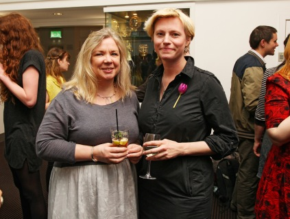 Lis Spencer with Rebecca Marshall at GL 6 wrap party at BAFTA