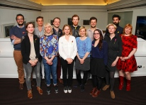 GL 6 Mentees at BAFTA (from top clockwise) Paul Fischer, Michael Pearce, George Kane, Jack Weatherley, David Parker, Jonathan Hyde, Line Langebek, Alex Thiele, Elizabeth Stopford, Rachel Tunnard, Elhum Shakerifar, Rebecca Marshall, Joy Wilkinson