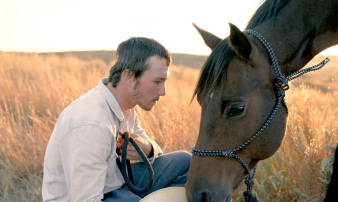 Brady Jandreau in The Rider, with horse